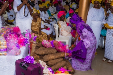 Bride was asked to pick her favorite gift from the bride price
